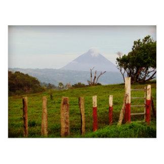 Recuerdo del volcán de Costa Rica Arenal Tarjeta Postal