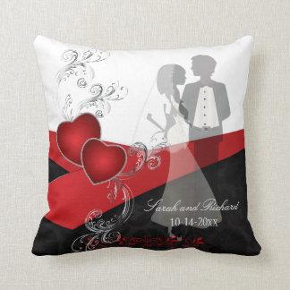 Recuerdo elegante hermoso del boda almohada