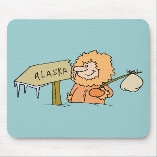 Recuerdo esquimal de Alaska del viaje del vintage  Alfombrilla De Ratón