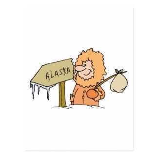 Recuerdo esquimal de Alaska del viaje del vintage Postal