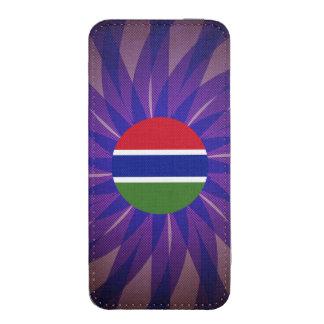 Recuerdo gambiano de la bandera funda acolchada para iPhone