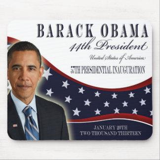 Recuerdo inaugural 2013 de Obama Mousepad Tapetes De Ratón