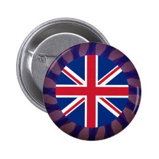 Recuerdo inglés de la bandera pin redondo 5 cm