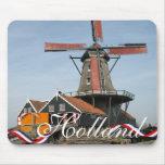 Recuerdo Mousepad de Holanda del molino de viento
