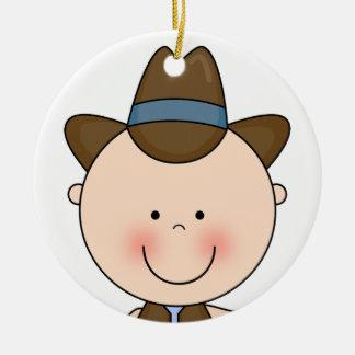 Recuerdo occidental sonriente dulce del vaquero de ornamentos de reyes magos