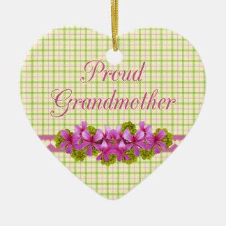 Recuerdo orgulloso de la tela escocesa de la abuel adorno para reyes