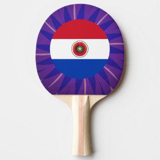 Recuerdo paraguayo de la bandera pala de ping pong