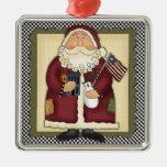 Recuerdo patriótico del navidad del país de Papá Ornamentos Para Reyes Magos