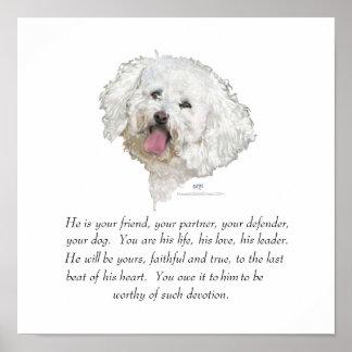 Recuerdo, perro masculino póster