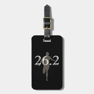 Recuerdo personalizado del corredor de maratón 26, etiquetas para equipaje