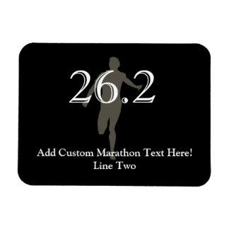 Recuerdo personalizado del corredor de maratón 26 imán flexible