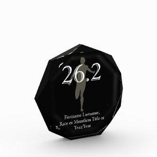 Recuerdo personalizado del corredor de maratón 26,