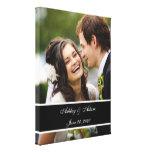 Recuerdo personalizado foto de encargo del boda lona envuelta para galerias