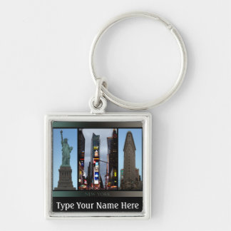 Recuerdo personalizado llavero de Nueva York Nueva