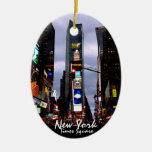 Recuerdo personalizado ornamento de Nueva York Adorno Para Reyes