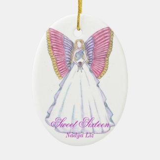 Recuerdo-Personalizar del dulce dieciséis Ornamentos De Navidad