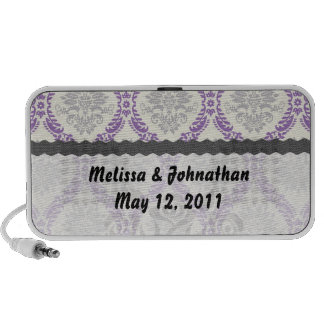 recuerdo poner crema gris púrpura real del boda de laptop altavoces