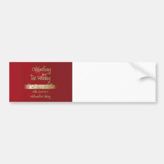 Recuerdo real de los coleccionables del boda de Gu Etiqueta De Parachoque