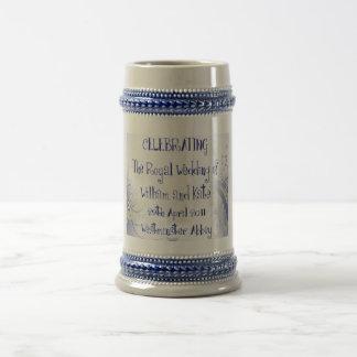 Recuerdo real de los coleccionables del boda de jarra de cerveza