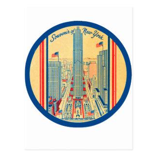 Recuerdo retro del viaje del kitsch del vintage de postales