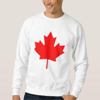 Recuerdo rojo de la hoja de arce de Canadá del Sudadera