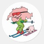 Recuerdo suizo del viaje del vintage del esquí de  pegatina