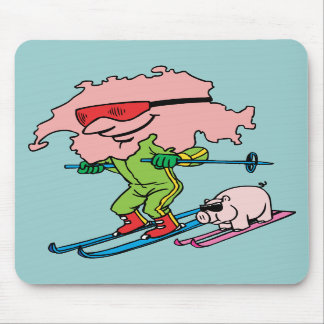 Recuerdo suizo del viaje del vintage del esquí de  alfombrillas de raton
