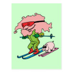 Recuerdo suizo del viaje del vintage del esquí de  tarjetas postales