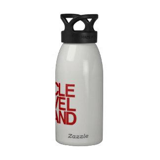 Recuerdo tipográfico intrépido de Cleveland Botella De Agua Reutilizable