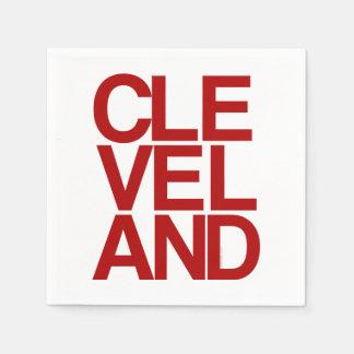 Recuerdo tipográfico intrépido de Cleveland Servilletas De Papel