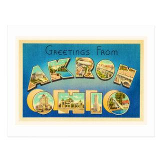 Recuerdo viejo del viaje del vintage de Akron Ohio Postales