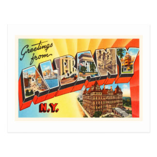 Recuerdo viejo del viaje del vintage de Albany Postal