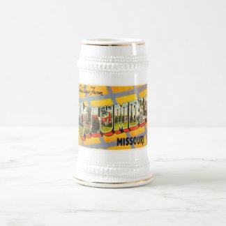 Recuerdo viejo del viaje del vintage de Columbia Jarra De Cerveza