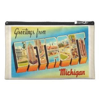 Recuerdo viejo del viaje del vintage de Detroit