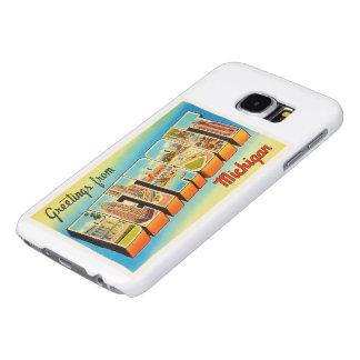 Recuerdo viejo del viaje del vintage de Detroit Funda Samsung Galaxy S6