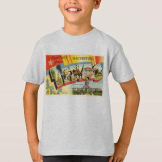 Recuerdo viejo del viaje del vintage de Galveston Playera