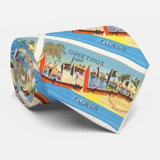 Recuerdo viejo del viaje del vintage de la Florida Corbata Personalizada
