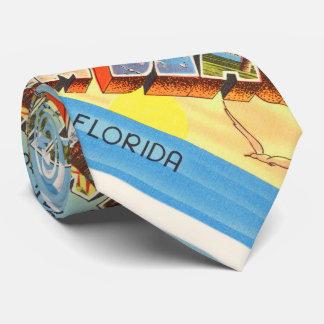 Recuerdo viejo del viaje del vintage de la Florida Corbatas