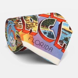 Recuerdo viejo del viaje del vintage de Miami Corbatas Personalizadas