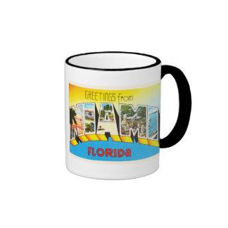 Recuerdo viejo del viaje del vintage de Miami la Taza De Dos Colores