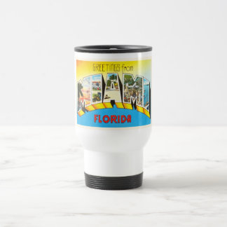 Recuerdo viejo del viaje del vintage de Miami la Taza De Viaje