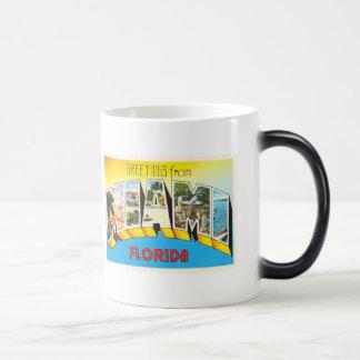 Recuerdo viejo del viaje del vintage de Miami la Taza Mágica