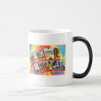 Recuerdo viejo del viaje del vintage de Miami Taza Mágica