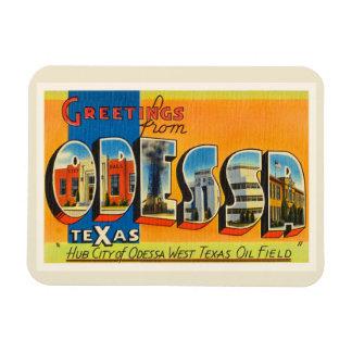 Recuerdo viejo del viaje del vintage de Odessa Imanes