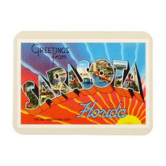 Recuerdo viejo del viaje del vintage de Sarasota Imán