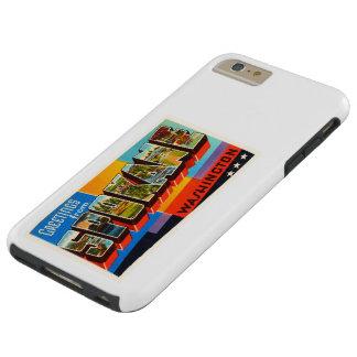 Recuerdo viejo del viaje del vintage de Spokane Funda Resistente iPhone 6 Plus