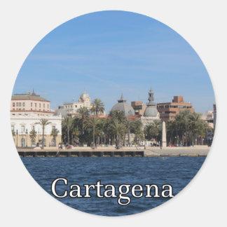 Recuerdo y regalo de Cartagena Pegatina Redonda