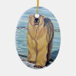Recuerdo y regalos del oso del ornamento del arte ornamentos de navidad