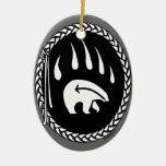 Recuerdo y regalos tribales del oso del ornamento  ornamento para arbol de navidad