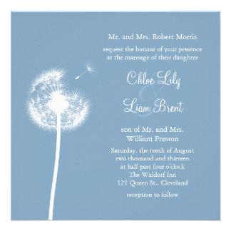 ¡Recuerdos azules! Invitación del boda (azul)